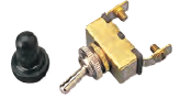 Seadog Stamped Brass Toggle Switch with Waterproof Boot