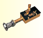 Seadog Stamped Brass THREE POSITION ONE CIRCUIT SWITCH