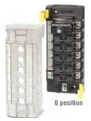 Blue Sea ST CLB CIRCUIT BREAKER BLOCK - 6 POSITION