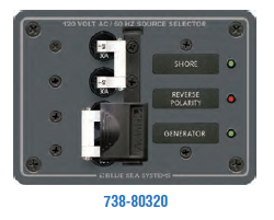Blue Sea AC TOGGLE SOURCE SELECTOR 120V AC 30A