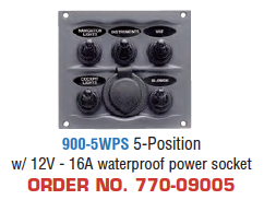Marinco SPRAY PROOF SWITCH PANELS - WATERPROOF SERIES