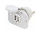 Blue Sea DUAL USB SOCKET MOUNT CHARGERS, 2.1A