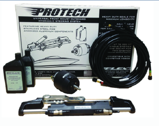 Uflex Hydraulic Steering System for Johnson/Evinrude, Yamaha & Suzuki w/20' hoses included.