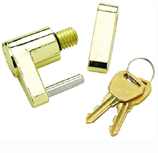 Seachoice Solid Brass Trailer Hitch Lock