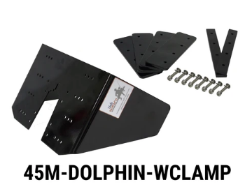 DOLPHIN-TROLLING FIN WITH NO-DRILL CLAMP SET