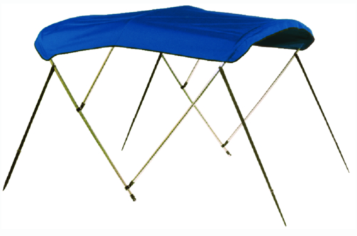 "Carver V3675TB4 Fully Assembled, Complete Sunbrella Bimini Tops w/Boot. 36"" H x 6' L, 73""-78"" Wide, Pacific Blue"