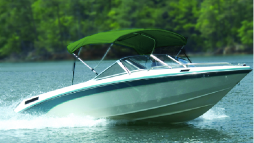 "Carver V5487TB3 Fully Assembled, Complete Bimini Tops w/Boot. 54"" H x 6' L, 85""-90"" Wide, Persian Green Subrella"