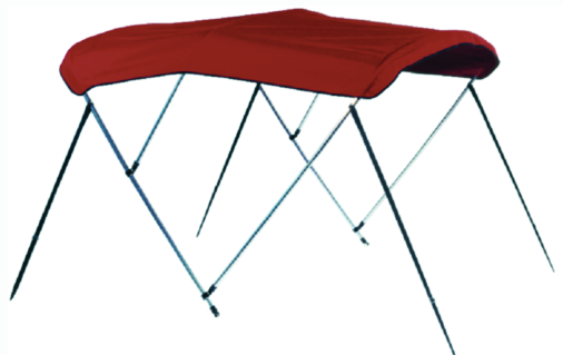 "3 Bow 67""-72"" Jockey Red Canvas"