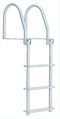 Dock Edge Bright White Howell Galvalume Flip-Up Dock Ladder With Hardware