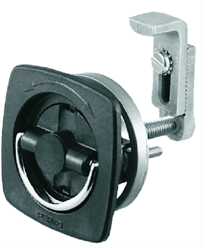 2-1-2X2-1-2 Black Flush Latch