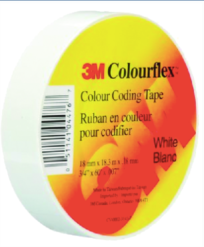3M Colourflex™ Coloured Vinyl Electrical Tape, 18mm x 18.3m