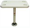 "Springfield Thread-Lock 16"" x 28"" Rectangular Table Package W-O Umbrella Socket"