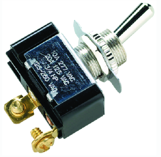 Seachoice 2 Position Toggle Switch With 2 Screw Terminals Off-On - 25A