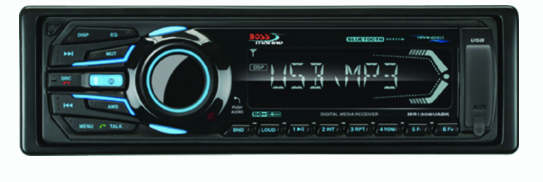 BOSS Marine AM-FM-USB-SD-MP3 Mech-less Player Receiver w-Bluetooth