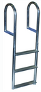 Dock Edge Welded Aluminum Fixed Wide Step Ladder