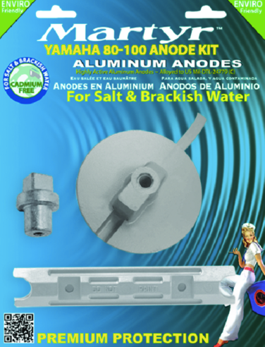 Martyr Anode Kit For Yamaha 80-100 HP Outboards