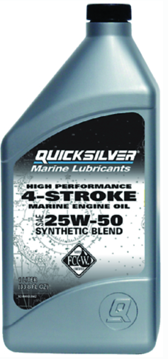 4-Stroke Synthetic Blend FC-W Outboard Oil, 25W-50 1L