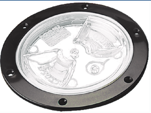 Sea-Dog 4 Screw Out Deck Plate w// Clear Cover
