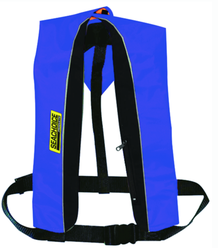 Seachoice  Type V Inflatable PFD Man-Auto - Canada Only - Blue-Black