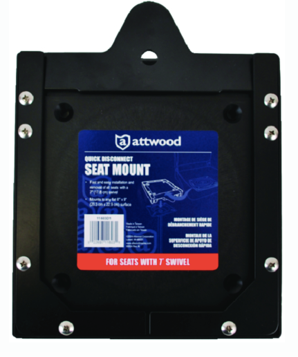 "Attwood Quick Disconnect Seat Mount 7"" Swivel"