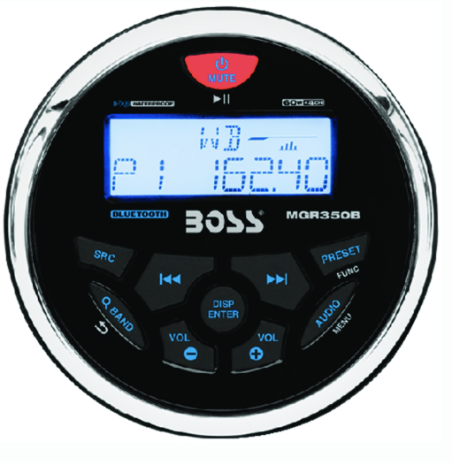 Boss In-Dash Mech-Less USB, MP3, WMA, FM-AM-Bluetooth Player
