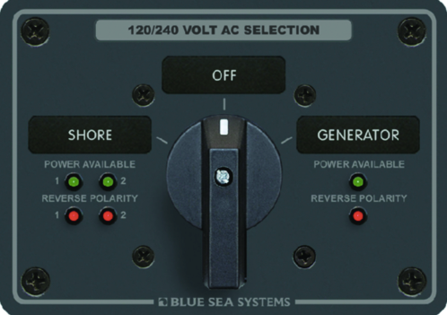 Blue Sea Systems  AC Rotary Switch Panel 65 Amp
