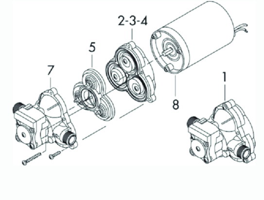 Shurflo Switch and Upper Housing for 2088-2093 Series