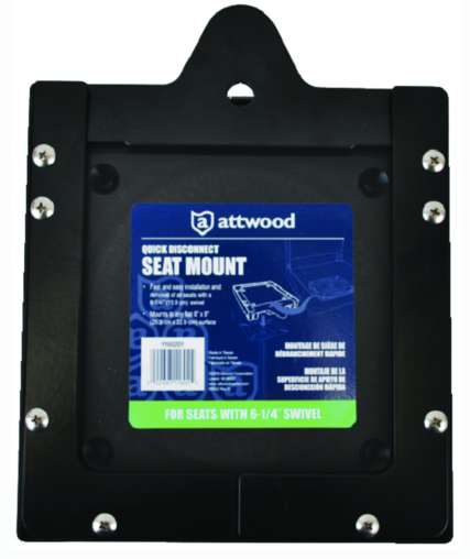 "Attwood Quick Disconnect Seat Mount 6-1-4"" Swivel"