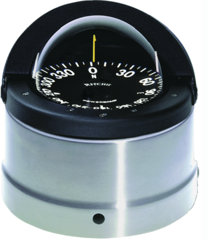 Navigator Compass, Deck-Binnacle Mount, Flat Dial, Polished SS Finish