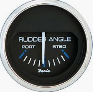 "Faria Chesapeake SS Black 2"" Gauge - Rudder Angle Indicator"