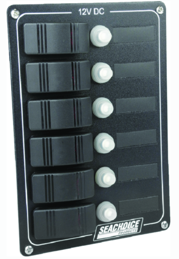 Seachoice Breaker Panel With Rocker Switches - 6 Gang
