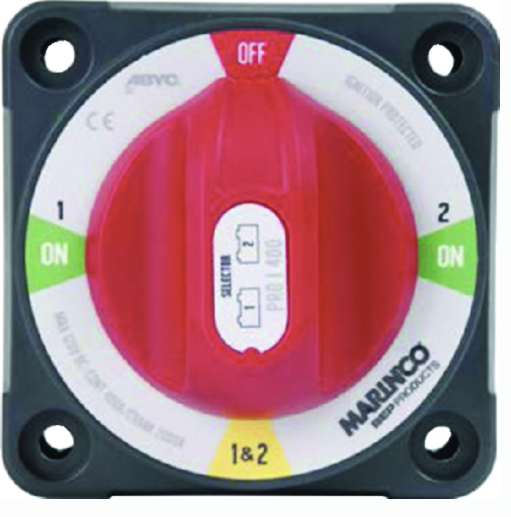 Marinco 771-SFD Pro Installer Battery Selector Switch With Field Disconnect (1-2
