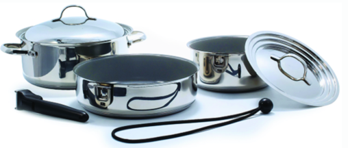 "Kuuma 58375 Stainless Steel Nesting"" Cookware"" Ceramic Coating"