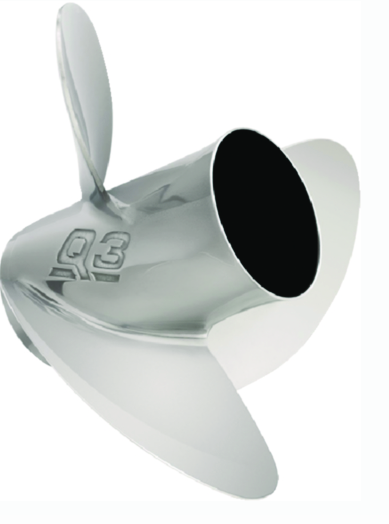 Quicksilver Q3 3-Blade Stainless Propellers w-Flo-Torq Hub