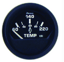 "Faria 12819 Euro Black 2"" Cylinder Head Temperature Gauge With Sender (60-220F)"