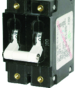 Blue Sea Systems Double Pole AC Circuit Breaker, 50 Amp, White