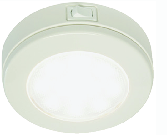 Hella EuroLED 115 Multivolt™ 10-33V DC White Light Downlight, White Plastic Rim