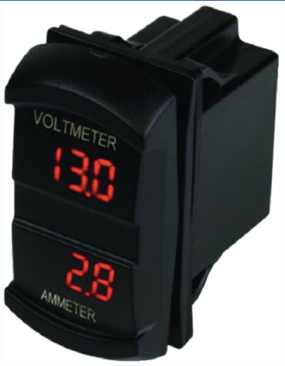 Seadog 4216451 Dual Volt-Amp Meter - Rocker Switch Style