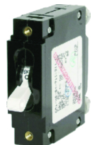 Blue Sea Systems Single Pole AC Circuit Breaker, 25 Amp, White
