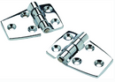 "SeaChoice 50-34401 (2) 2-1-4"" x 1-1-2"" Chrome Plated Zinc 3-4"" Short Side Hinges"