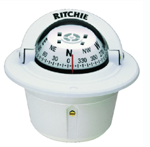 Explorer Flush Mt. Compass, White