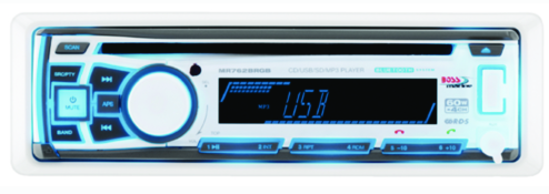 Marine In-Dash CD-USB-SD-MP3-WMA-AM-FM w-Detachable Front Panel & Bluetooth Rece