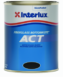 Interlux 7790QTCA Fiberglass Bottomkote® ACT, Black, Qt