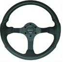Nisida Steering Wheel, Black w-Black Grip