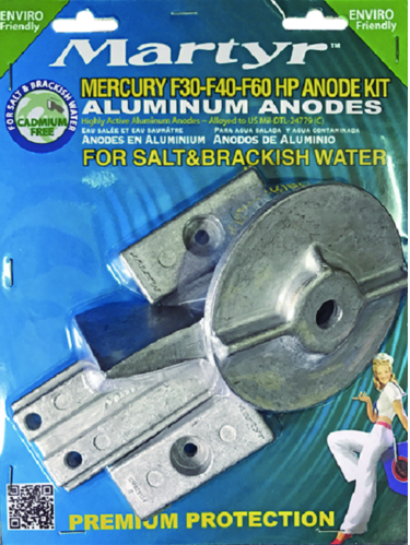 Martyr Aluminum Anode Kit For Mercury F30-F40-F60HP Engines