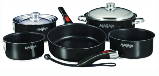"Magma Ceramica Non-Stick 10 Piece Induction Compatible ""Nesting"" Cookware Set"