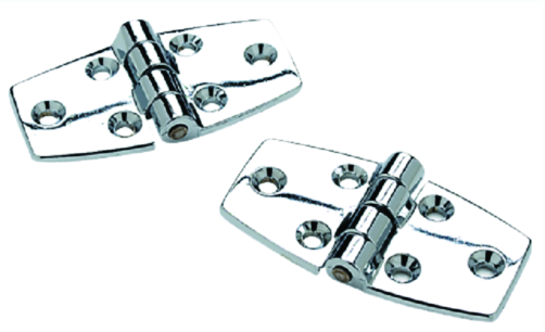 "SeaChoice (2) 3"" x 1-1-2"" Chrome Plated Zinc Utility Hinges 120 Degree Opening"