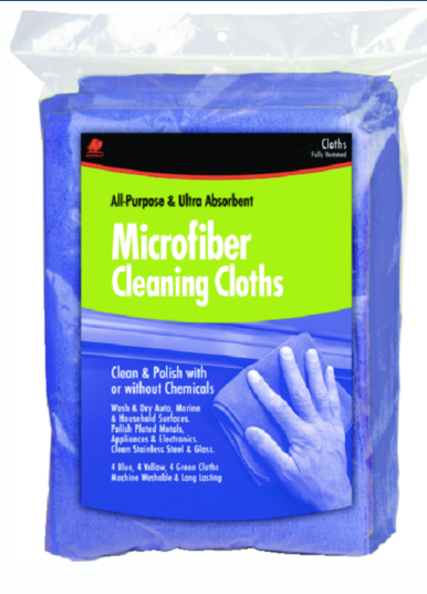 "Buffalo Microfiber Cloths 12"" x 12"" Blue, 3-Pk"