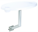 GARELICK Oval Acrylic Table, Side Mt.