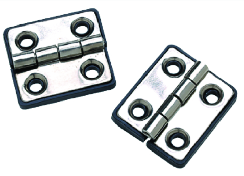 "SeaChoice 50-33951 (2) 1-5-16"" x 1-1-2"" Polished Stainless Steel Butt Hinges"